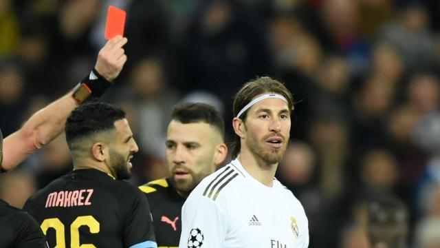 Ramos equals Champions League red card record with Man City ... - goal.com