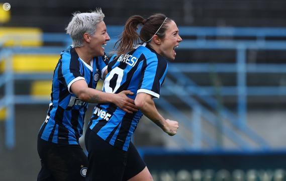 Regina Baresi e Stefania Tarenzi, attaccanti dell'Inter women.