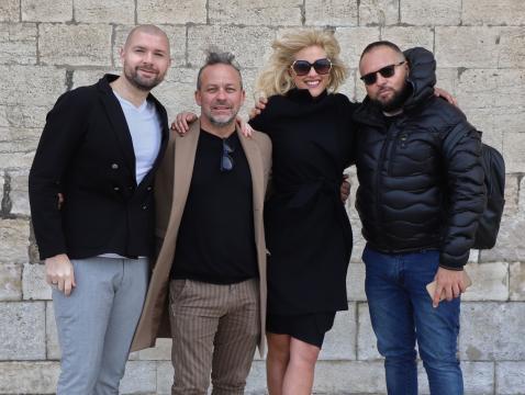 Miky Falcicchio, Tommaso Di Tondo, Raffaella Di Caprio e Rosario Porzio