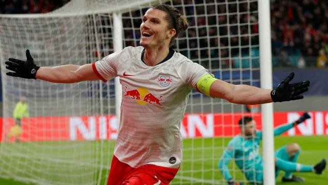Sabitzer fue la figura goleadora del Leipzig en la vuelta. www.theunionjournal.com