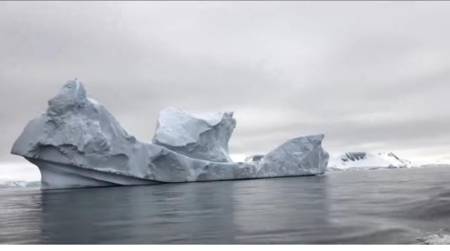 Antarctica is losing ice at an accelerating rate. How much will sea level rise? [Image source/PBS NewsHour YouTube video]