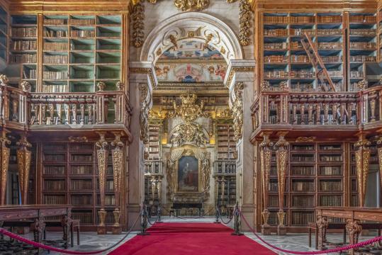 Portogallo. Biblioteca Joanina a Coimbra (Picture from richardsilverphoto.com)