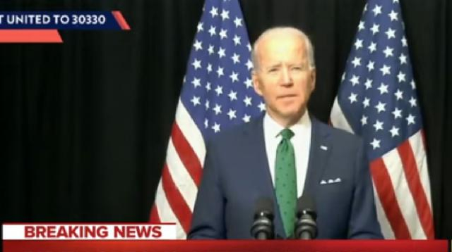 Joe Biden sweeps Sanders in 3 states on one of the strangest primary days in recent history. [Image source/MSNBC YouTube video]
