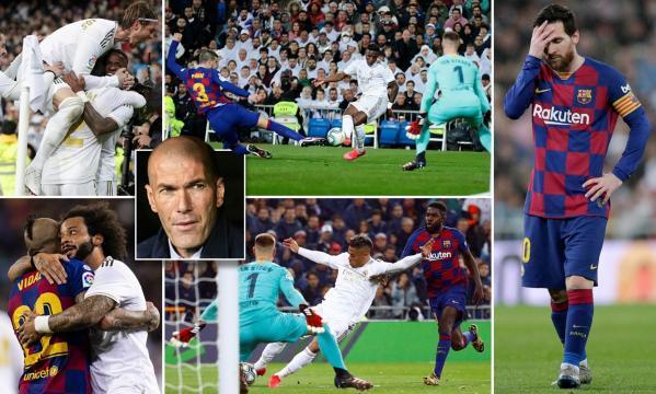 El Madrid revivió con el triunfo 2´0 en casa vs el Barcelona. www.dailymail.co.uk