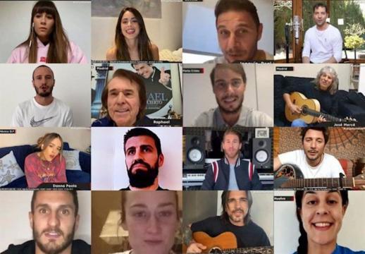 Futbolistas y Cantantes de Europa y Latinoamérica fueron participes del concierto benéfico LaLiga Santander Fest