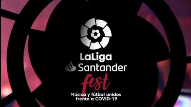 LaLiga Santander Fest une Música y Futbol contra el COVID-19