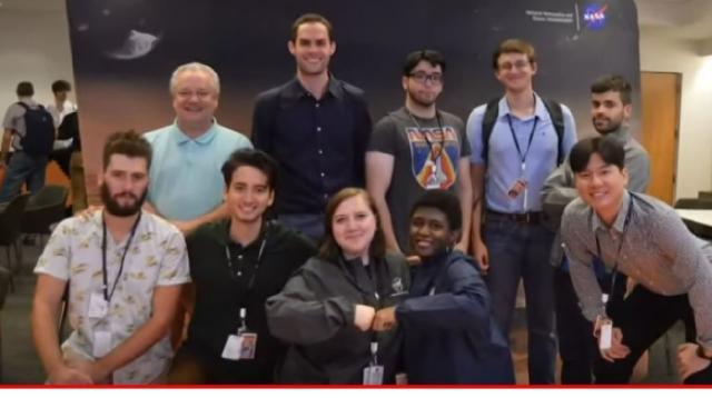 NASA aerospace scholars. [Image source/News 19 WLTX YouTube video]