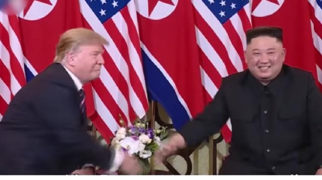 Kim Jong-un leader of North Korea and Donald Trump Hanoi summit. [Image source/NORTH KOREA NOW YouTube video]