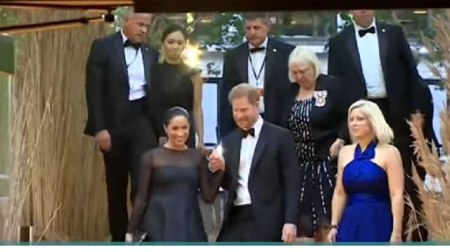 Meghan Markle and Prince Harry say Archewell inspired Baby Archie's name. [Image source/Access YouTube video]