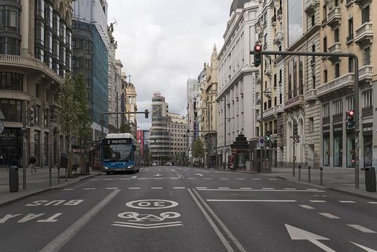Madrid, una imagen de la España vacía