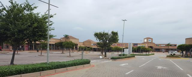 Empty Shopping Center under lockdown in Pretoria South Africa. [Photo by Anél du Preez]