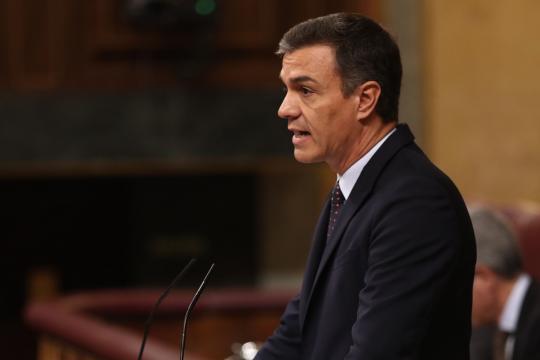 Pedro Sánchez desde Palacio de la Moncloa