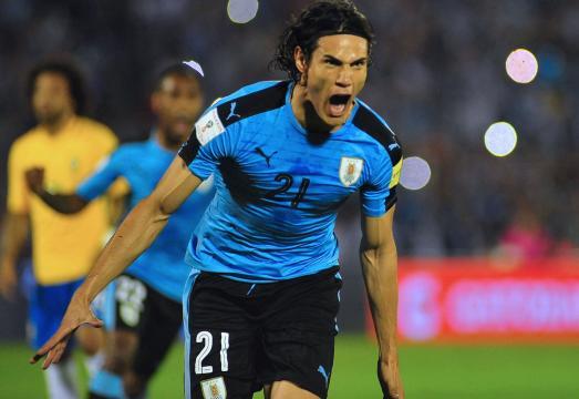 Cavani anota frente a Brasil por Eliminatorias al Mundial de Rusia 2018 - andina.pe