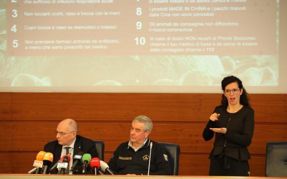 Emergenza Coronavirus: la conferenza stampa