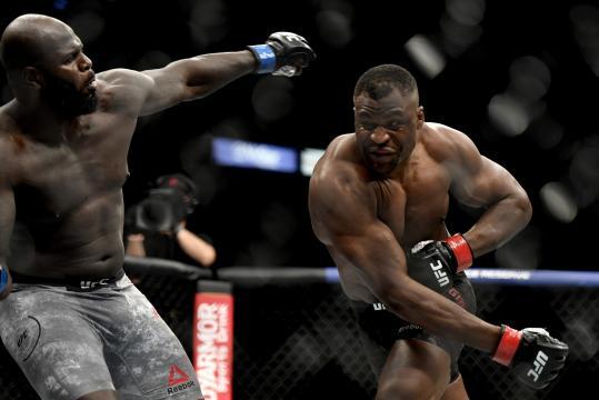 Ngannou dio brutal TKO a Jairzinho Rozenstruik.