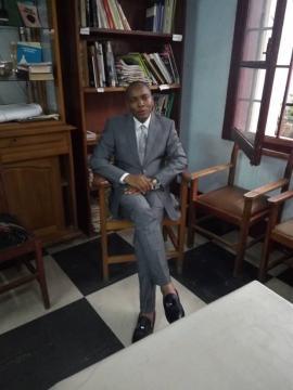 Président de l'ICOM Cameroun, Christian Nana Tchuisseu (c) Odile Pahai