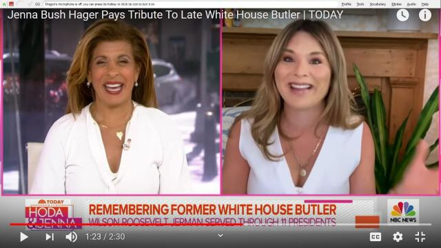 Tears and laughter came as Jenna Bush Hager paid warm tribute to Wilson Roosevelt Jerman on 'Today.' [Image Source: TODAY/YouTube]