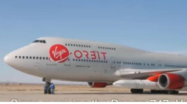 Virgin Orbit 747 launches rocket. [Image source/Ishrion Aviation YouTube video]