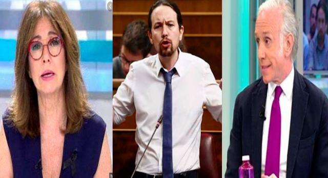 Ana Rosa Quintna, Pablo Iglesias y Eduardo Inda.