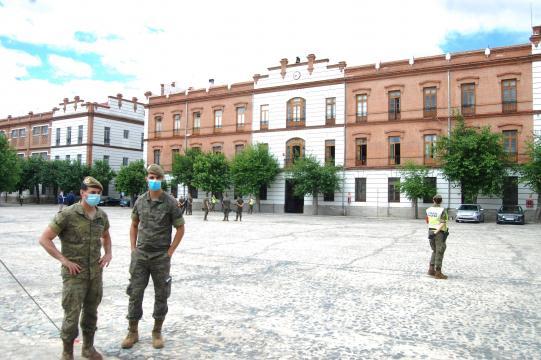 Edificiio príncipal del REW 31 en su base de El Pardo a las afueras de Madrid.