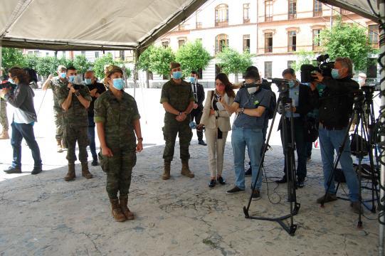 Una cabo del REW 31 relata su experiencia en el Gómez Ulla, donde asistió a un enfermo que tristemente no superó la enfermedad.