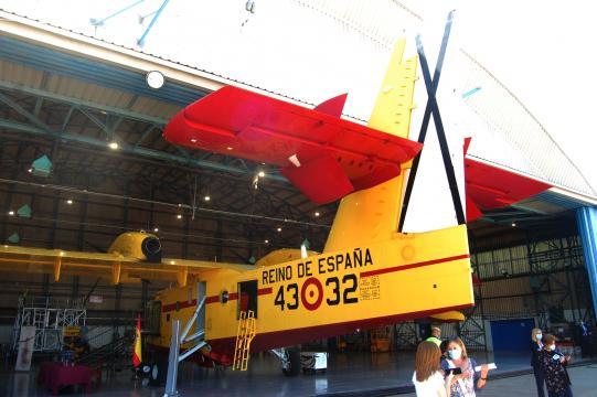 Aunque se contará con muchos más medios aéreos, el Canadair será el instrumento principal contra el fuego.
