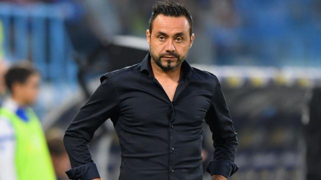 L'allenatore del Sassuolo Roberto De Zerbi.