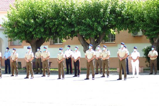 Efectivos de la Guardia Real en la clausura de la misión, todas las ramas de las FAS han estdo plenamente involucradas en la operación