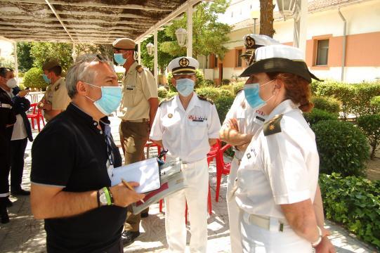 Los militares participantes en la misión informaron pormenorizadamente a la prensa de su experiencia en la Operación Balmis