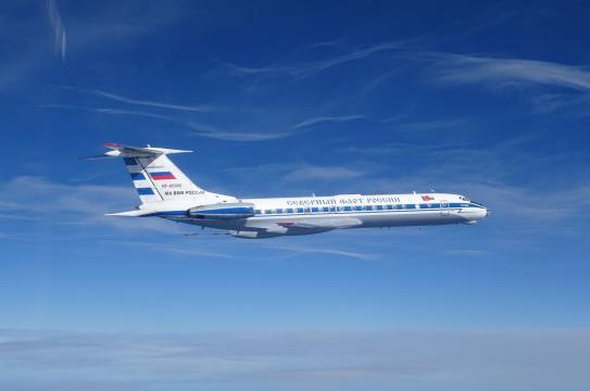 Detalle de uno de los Tu-134 interceptado por los cazas españoles