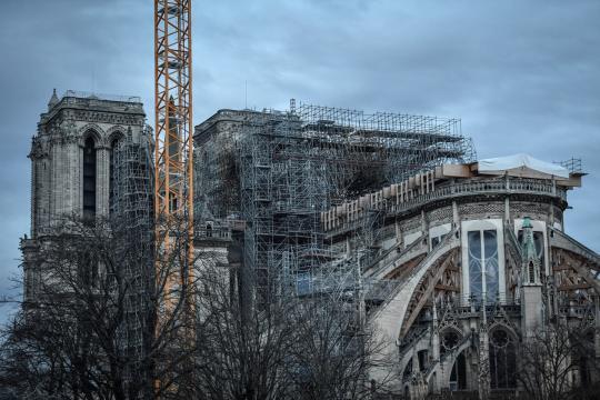 Se iniciará el desmantelamiento del armazón para la restauración de la Catedral de Notre Dame.