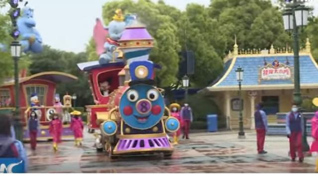 Disney park in Shanghai to reopen with COVID-19 precautionary measures. [Image source/New China TV YouTube video]