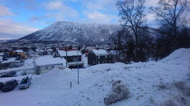 Snow-kissed landscape of Northern Norway's proud city - Picture by Claire Baston