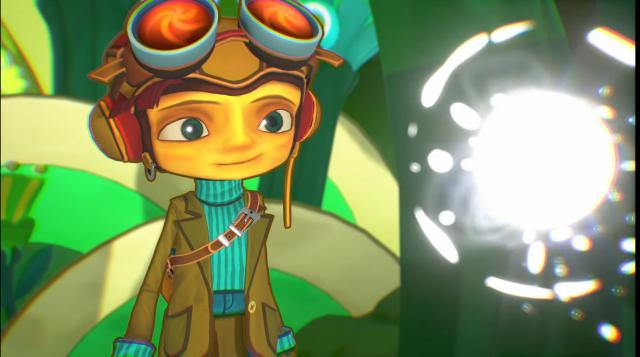 Raz is guided by a mete of light voiced by Jack Black. [Image Source: DoubleFineProd/YouTube]