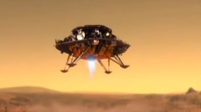 Tianwen-1 Mars rover and lander of China. [Image source/SciNews YouTube video]