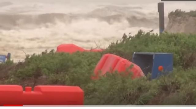 Hurricane Hanna makes landfall in Texas. [Image source/Global News YouTube video]
