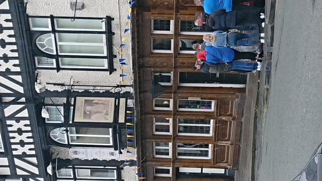 Queuing to enter a traditional pub after a 105 days wait - Picture courtesy of David Adairair