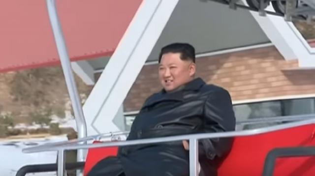 Kim Jong-un, leader of North Korea, unveils new mountain resort. [Image source/On Demand News YouTube video]
