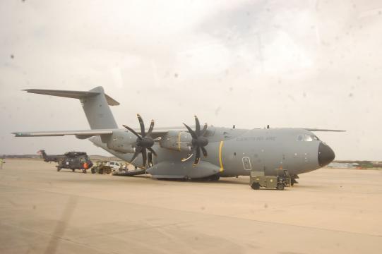 El voluminoso A-400M se ha revelado mágnifico para evacuar un alto número de heridos y enfermos a largas distancias