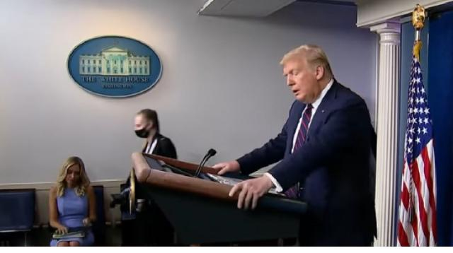 Donald Trump suggests election be postponed, Congress disagrees. [Image source/NBC News YouTube video]
