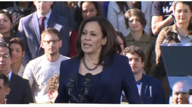 Kamala Harris becomes first woman of color to run for vice president on a major party ticket. [Image source/CBS This Morning YouTube video]