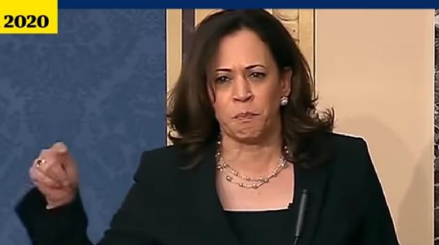 Kamala Harris: memorable moments from Joe Biden's VP pick. [Image source/Guardian News YouTube video]