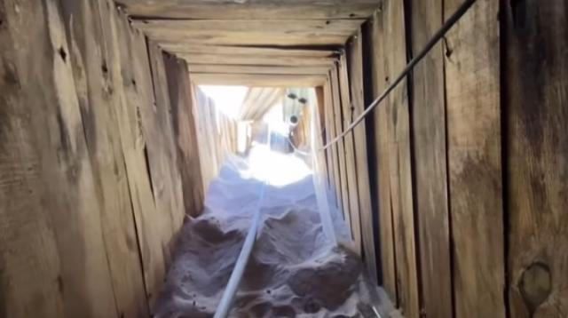 'Most sophisticated tunnel in US history' discovered between Mexico and Arizona. [Image source/Guardian News YouTube video]
