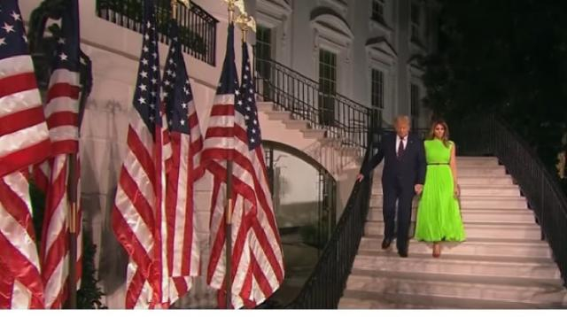 President Donald Trump closes out RNC at the White House. [Image source/NBC New York YouTube video]
