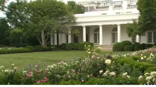 White House Rose Garden – venue of the convention of President Donald Trump. [Image source/KRIS 6 News YouTube video]