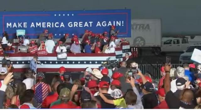 Donald Trump holds campaign rally In Reno, Nevada. [Image source/NBC News YouTube video]