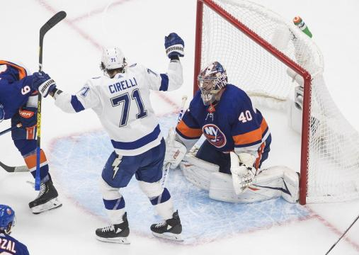 Cirelli fue el héroe contra los Islanders. www. startribune.com