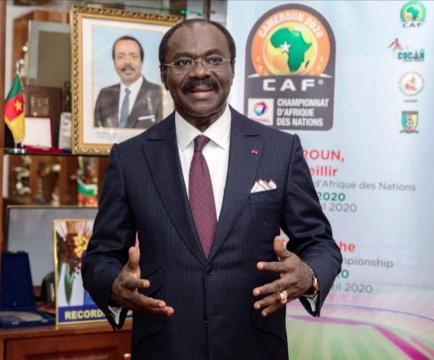 Le Pr Narcisse Mouelle Kombi, Ministre des Sports, Agrégé en Droit Public et Science Politique, Ecrivain (c) Fecafoot
