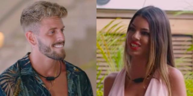 Andrea y Óscar, en 'La isla de las tentaciones' como solteros tentadores.