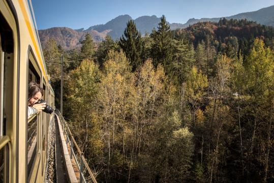 Il treno del foliage, da Domodossola a Locarno.